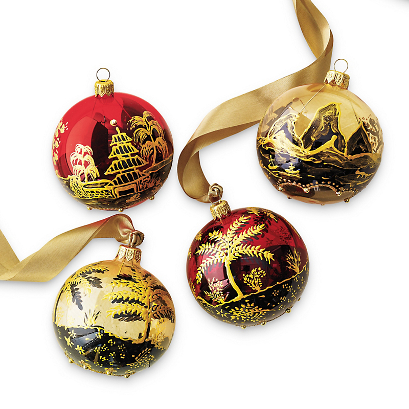 Chinoiserie Ball Christmas Ornaments