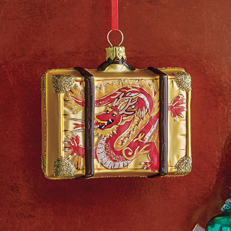 Far East Dragon Suitcase Christmas Ornament