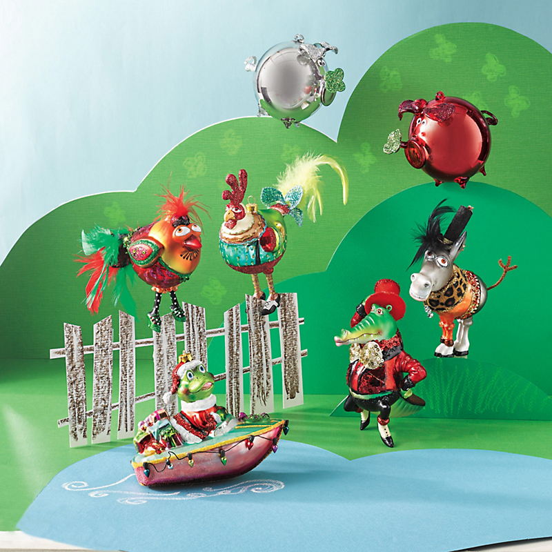 Barnyard Christmas Ornaments