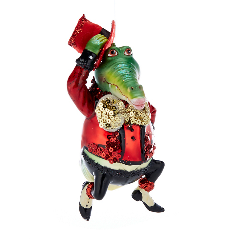 Barnyard Party Gator Christmas Ornament