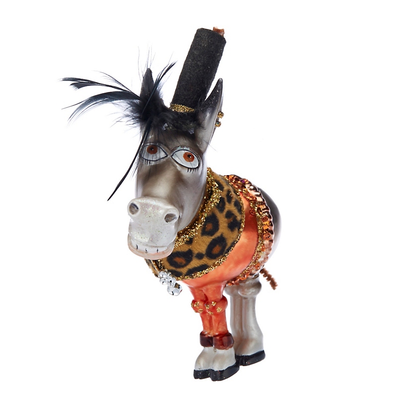 Barnyard Donkey Christmas Ornament