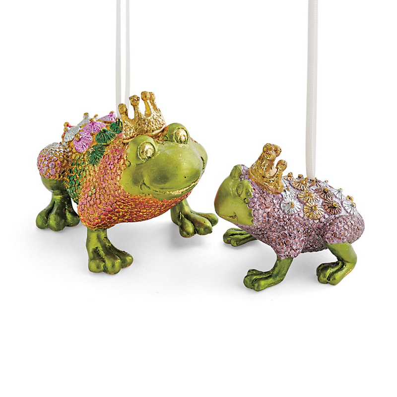 Frog Prince Christmas Ornaments