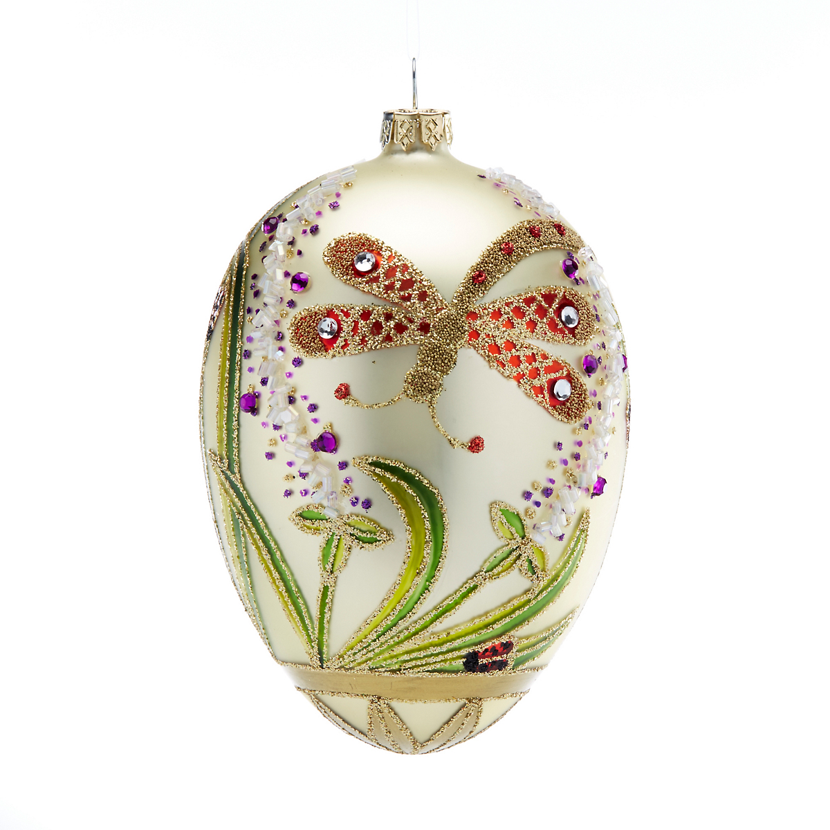 Garden Lover's Secret Garden Egg Christmas Ornament