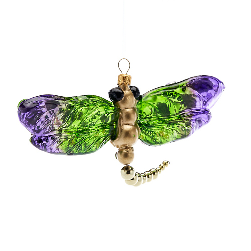 Garden Lover's Dragonfly Christmas Ornament