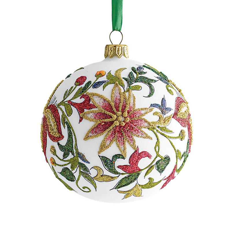 Glitter Garden Ball Christmas Ornament