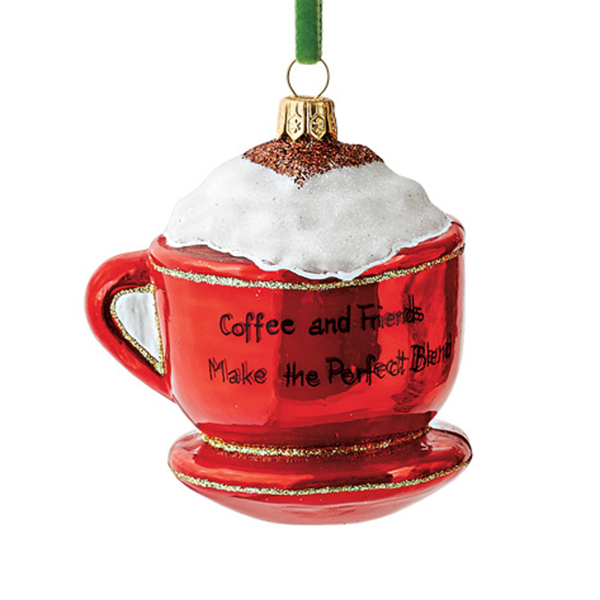Santa's In The Kitchen Cappuccino Cup Christmas Ornament