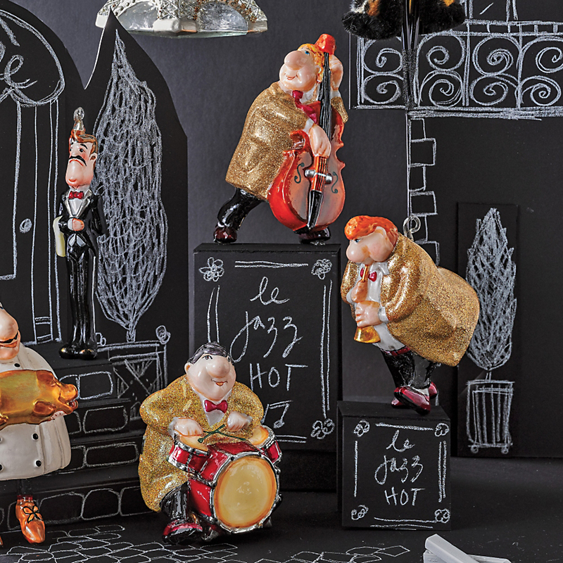 Jazz Trio Ornaments