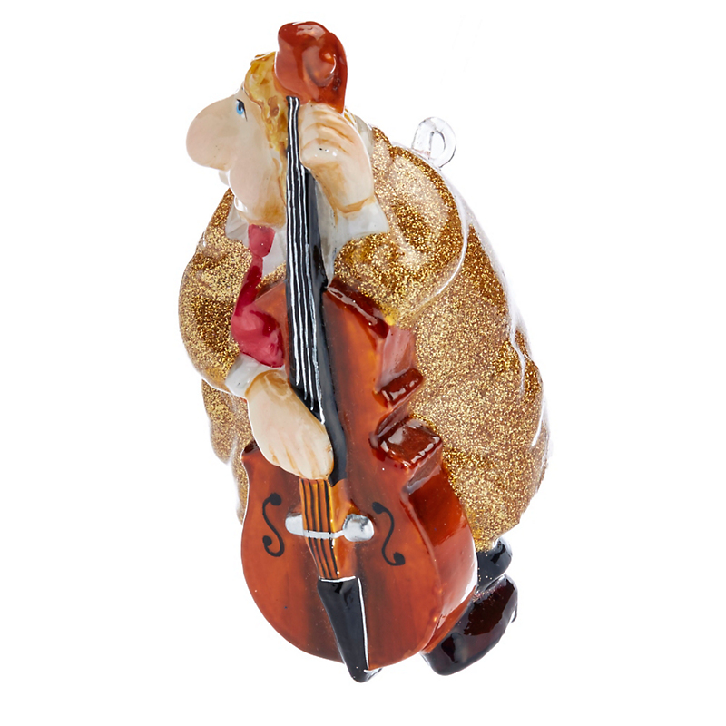 Jazz Trio Bass Player Christmas Ornament