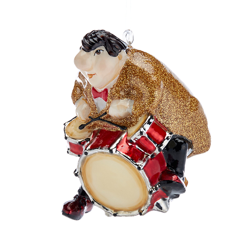 Jazz Trio Drummer Christmas Ornament