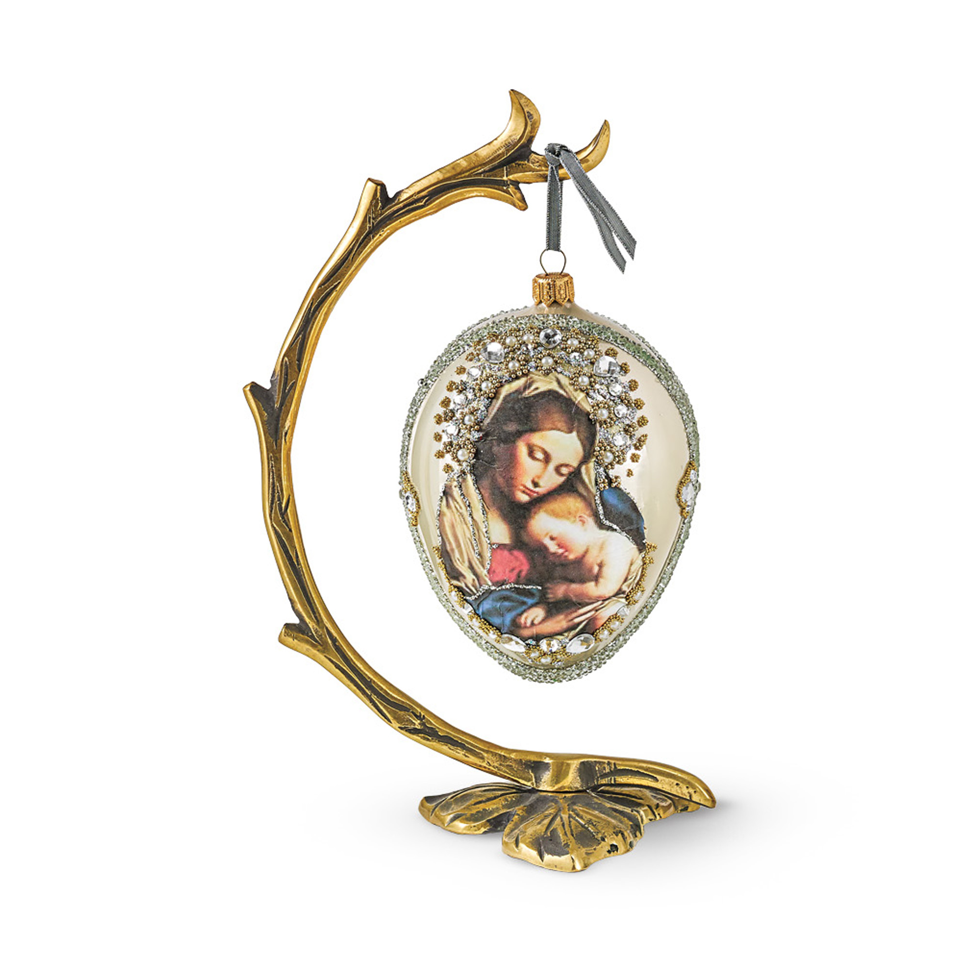 Mary & Baby Jesus Christmas Ornament