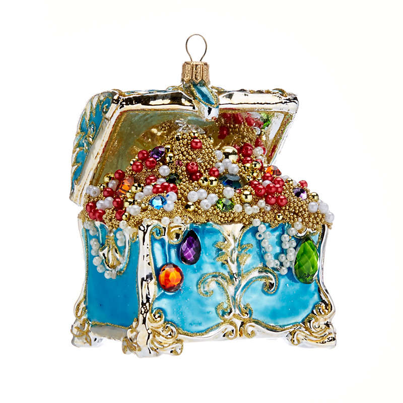 Treasure Chest Sealife Christmas Ornament