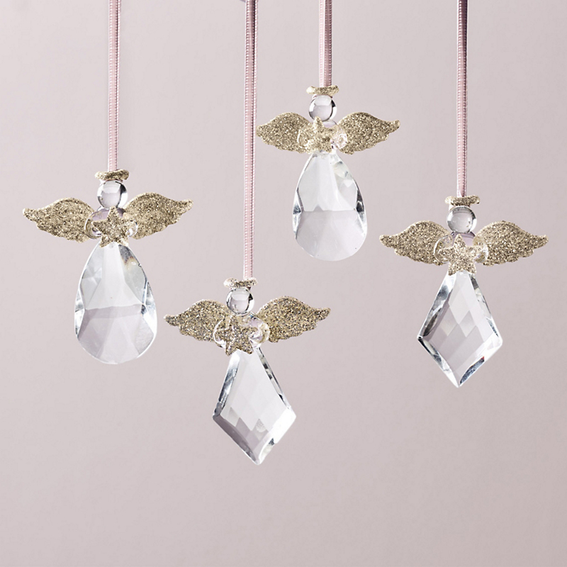 Crystal Drop Angel Ornaments
