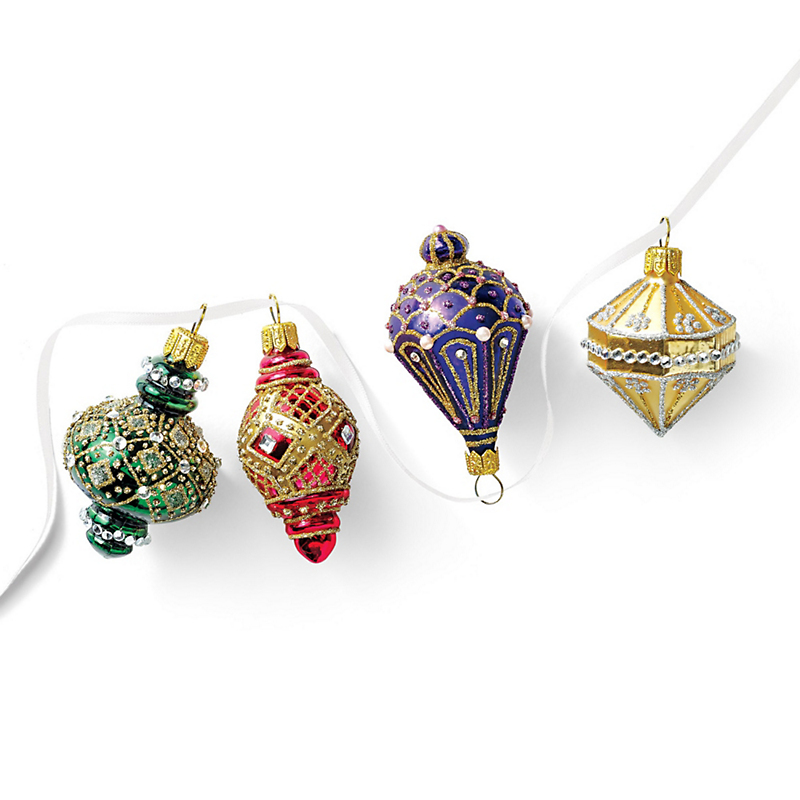 Lantern Christmas Ornaments, Set Of 4
