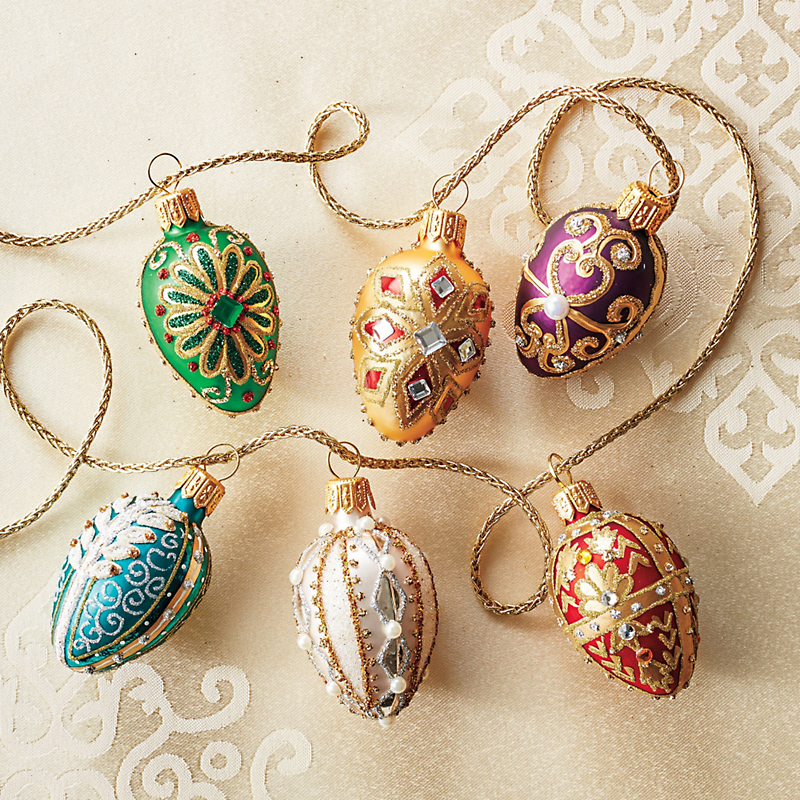 Celebration Bejeweled Egg Ornaments