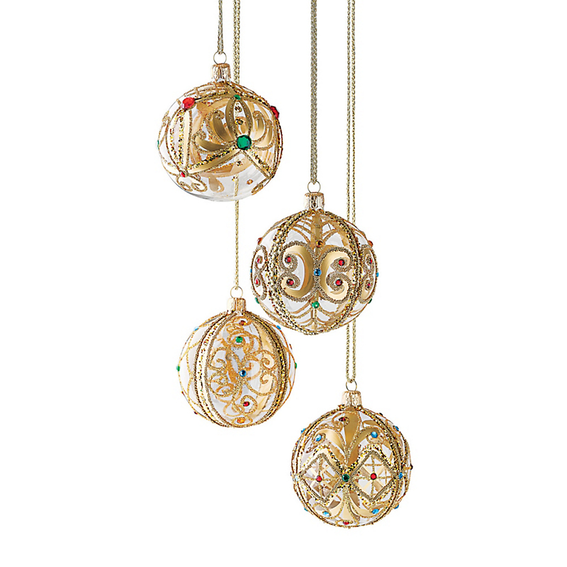 Jeweled Ball Christmas Ornaments