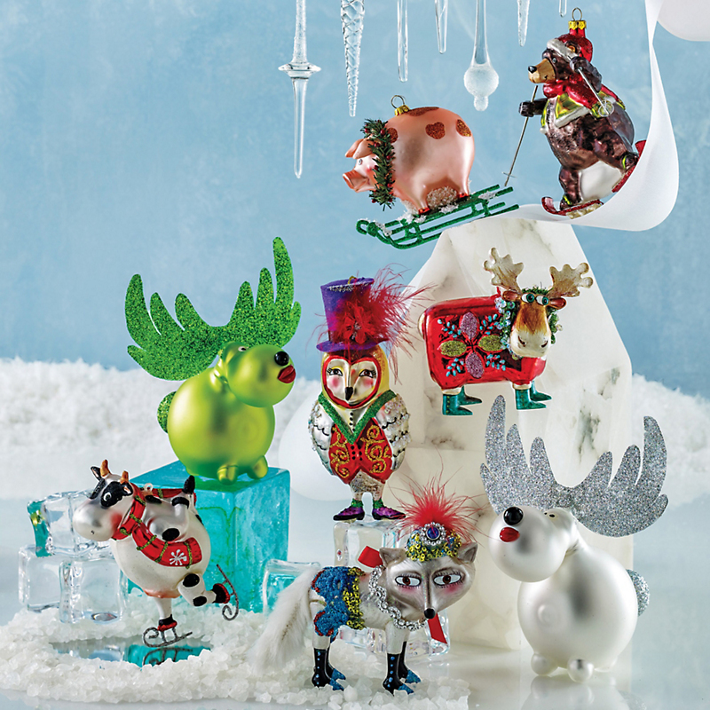 Snow Follies Christmas Ornaments