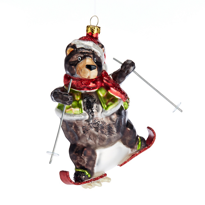 Snow Follies Skiing Bear Christmas Ornament