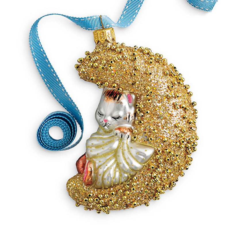 Bundles Of Joy Kitten On Moon Christmas Ornament