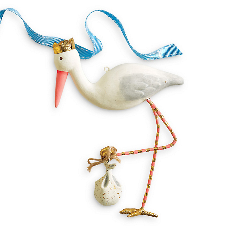 Bundles Of Joy Stork With Special Delivery Christmas Ornament