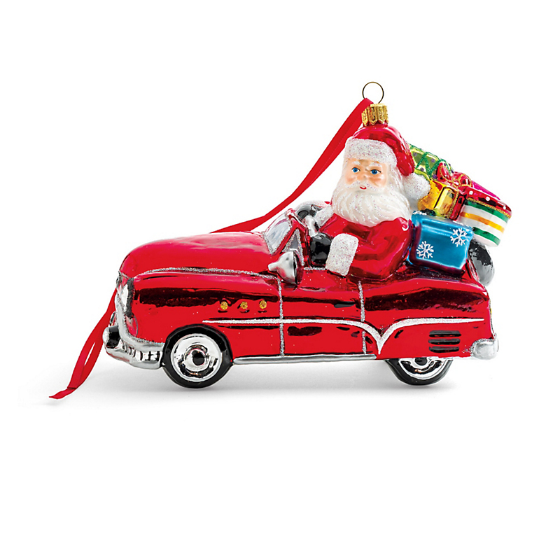 Driving Santa Christmas Ornament