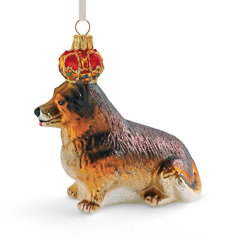 Royal Corgi Christmas Ornament