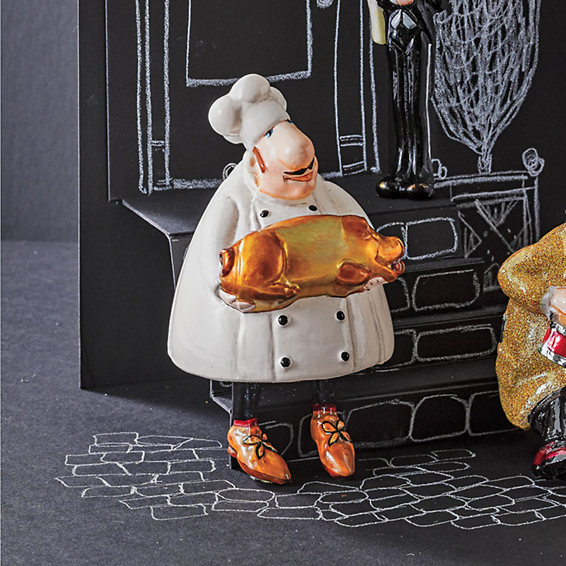 Chef With Pig Christmas Ornament
