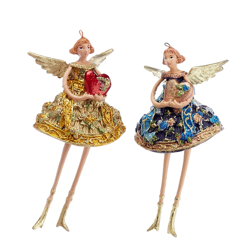 Whimsical Angels Ornament Set