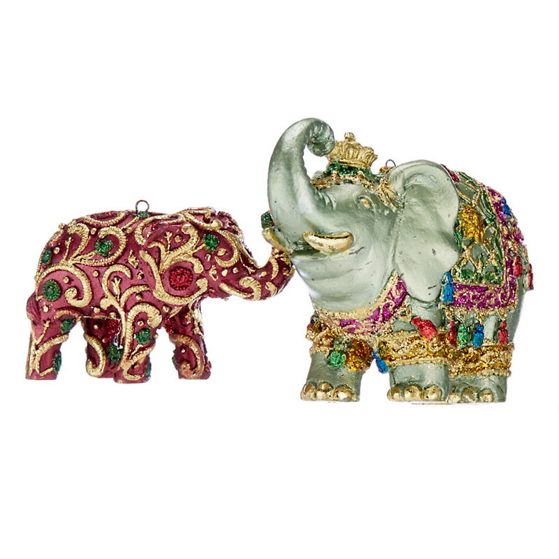 Whimsical Elephants Ornament Set