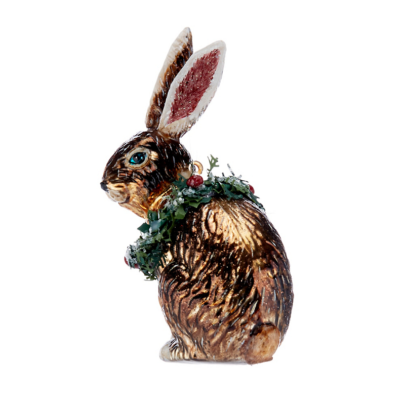 Forest Friends Winter Rabbit Christmas Ornament
