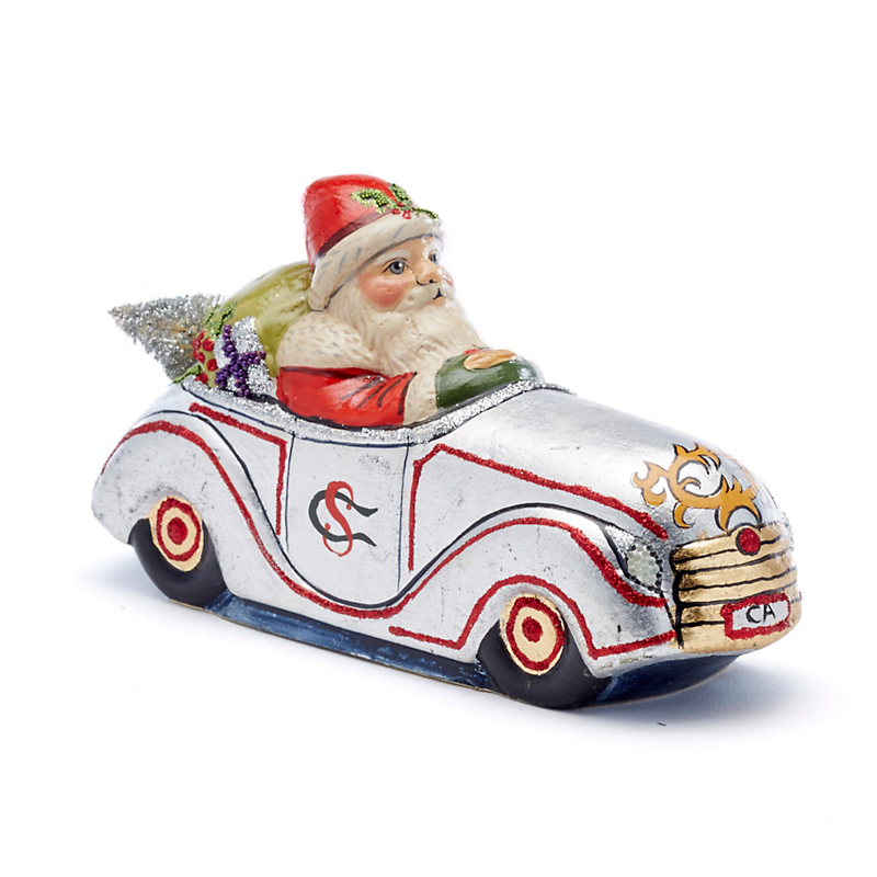 Vaillancourt Holiday Treasures Roadster Santa