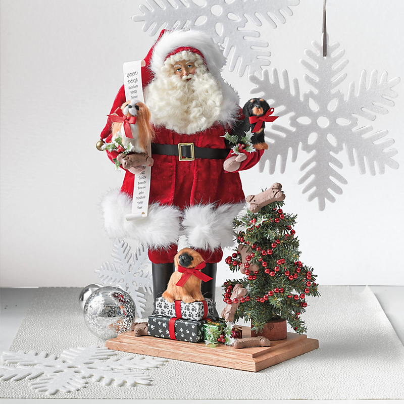 Lynn Haney Good Dogs Santa Figure