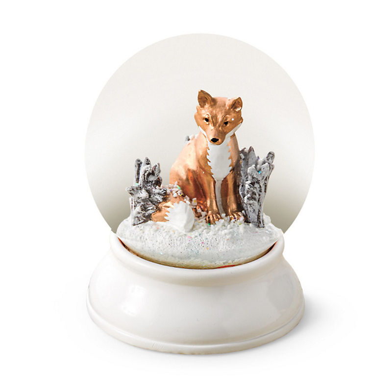 Gold Fox Snow Globe