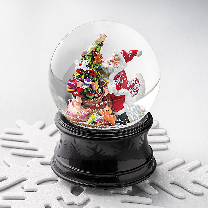 A Visit From Santa Musical Snow Globe