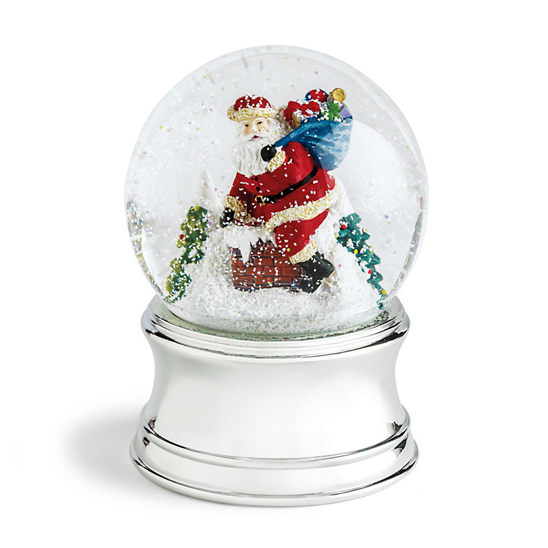 Santa's Midnight Visit Snow Globe