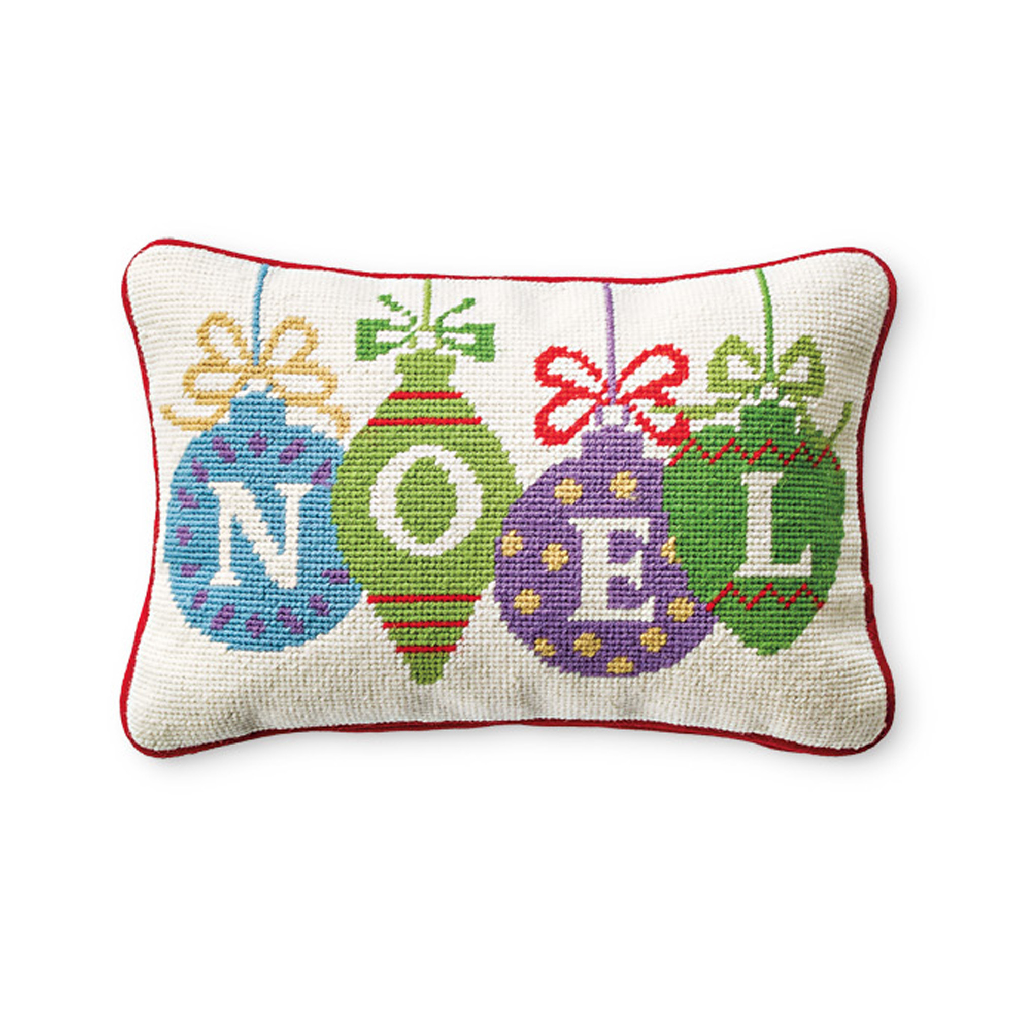 Noel Needlepoint Pillow
