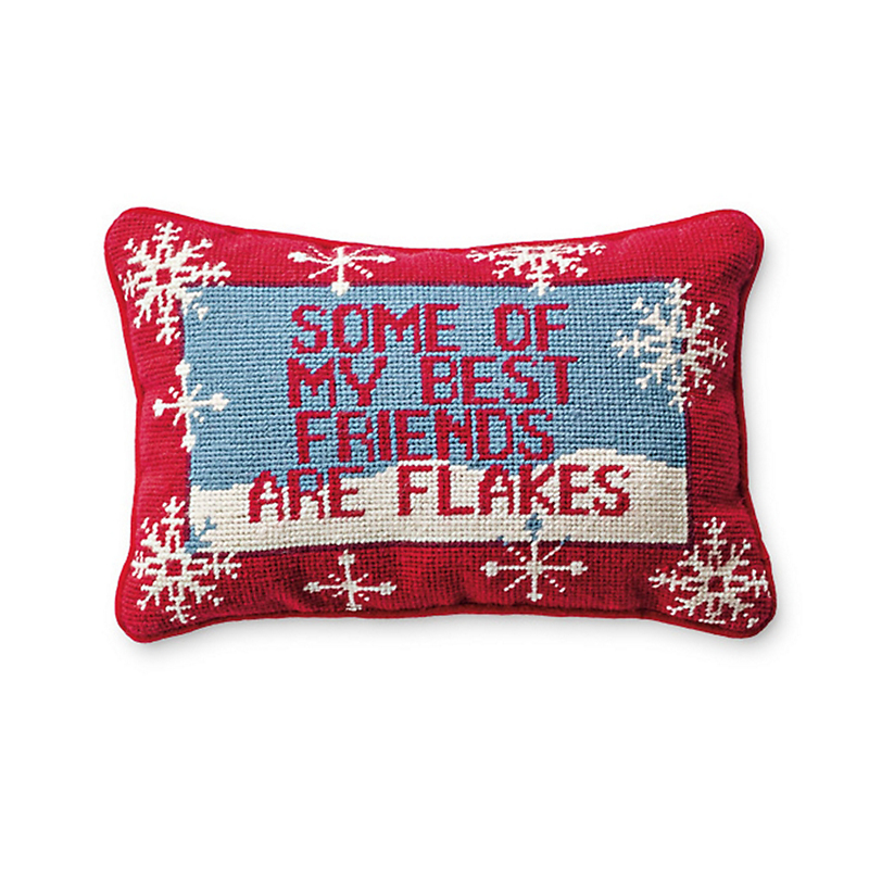 'Some Of My Best Friends' Needlepoint Pillow