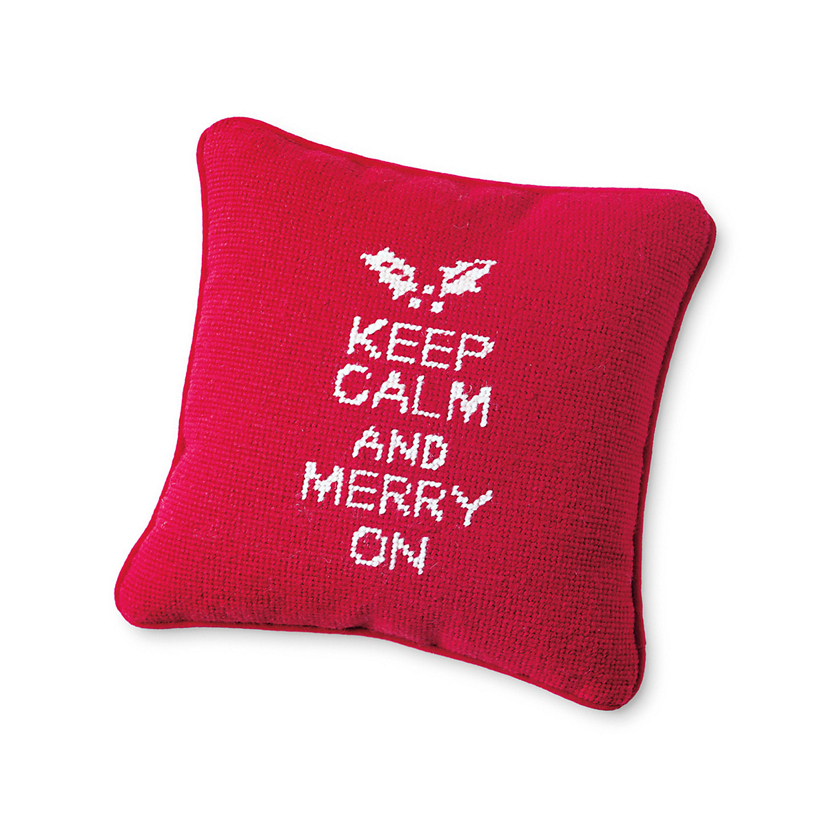 'Keep Calm & ...' Needlepoint Pillow