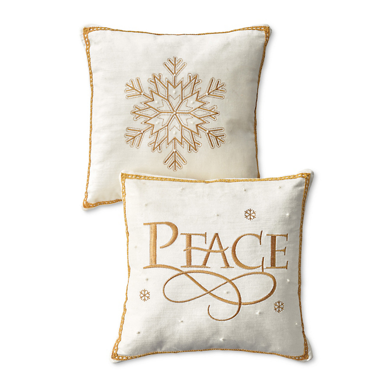 Ivory & Gold Christmas Pillows