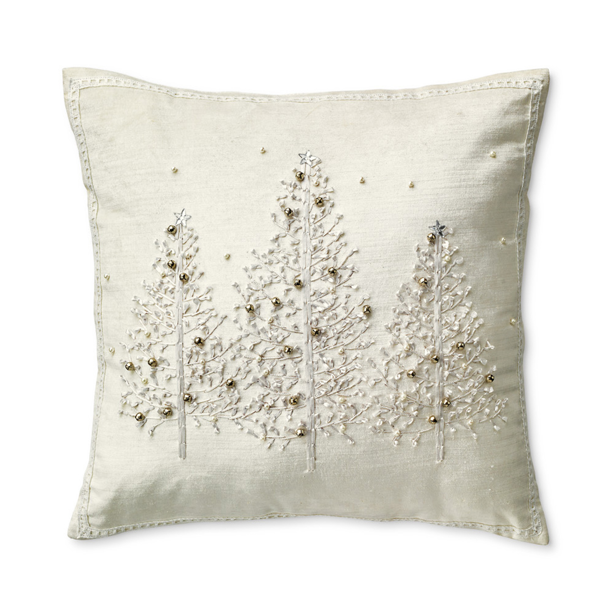 Silver Forest Velvet Pillow