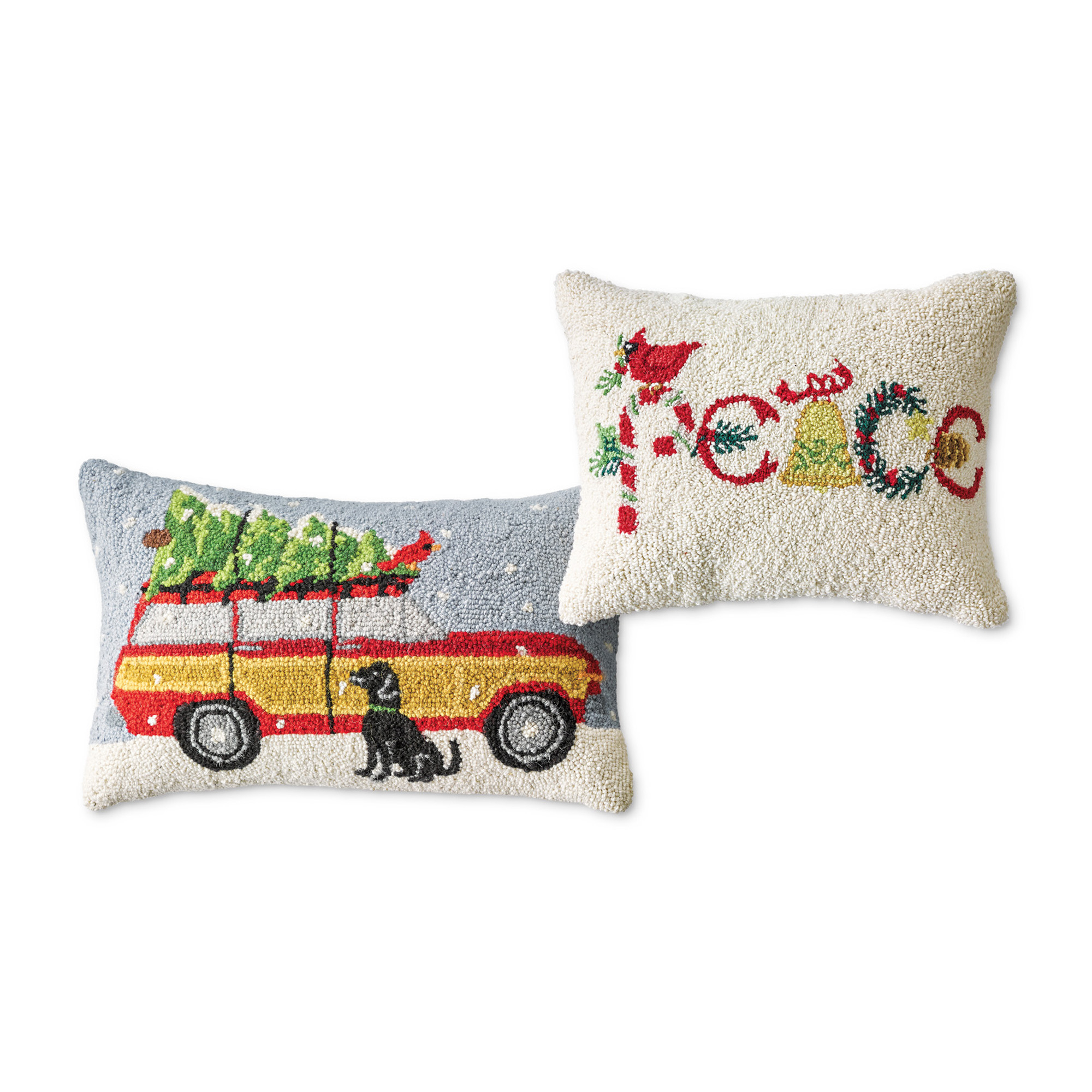 'Christmas Is...' Hooked Pillows