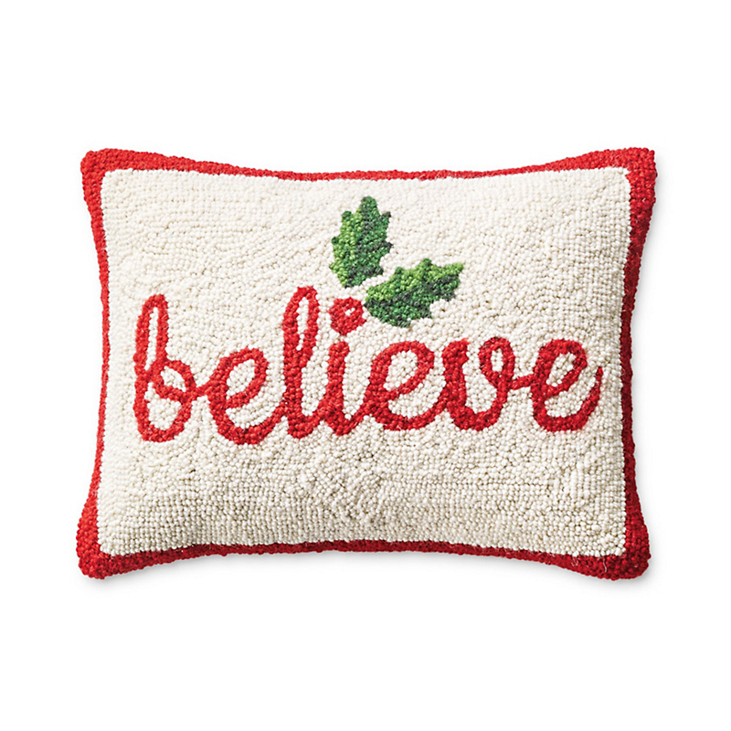 'Believe' Hooked Pillow