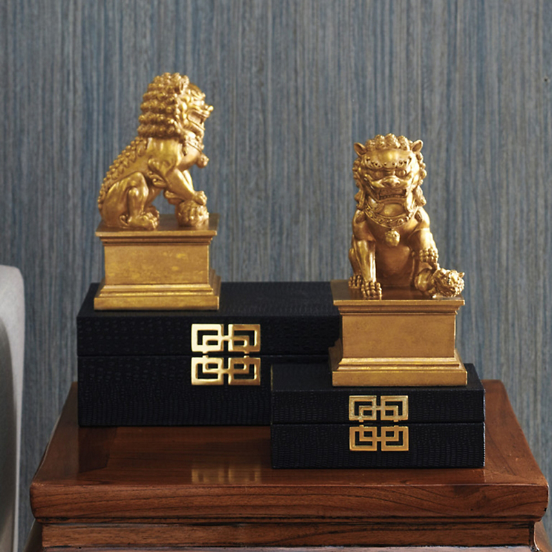 Golden Foo Dog Figures