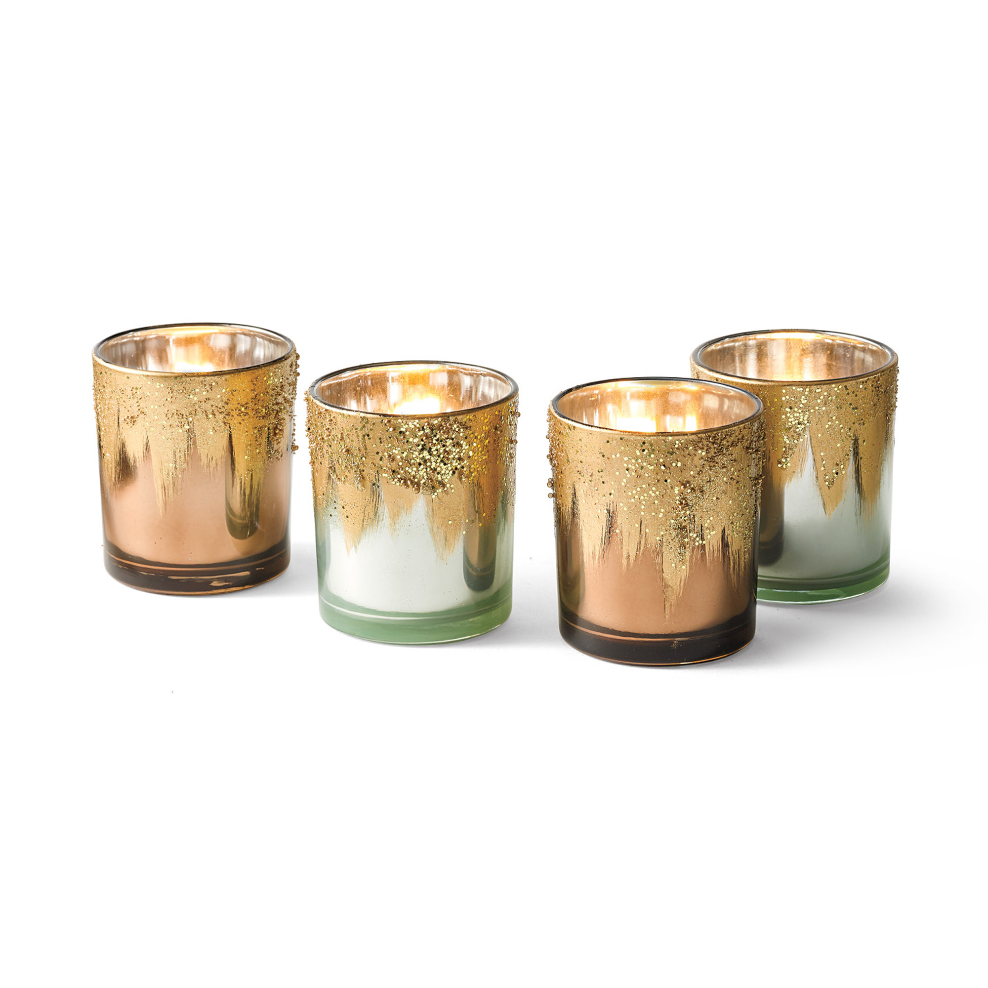 Gilded Votive Holders