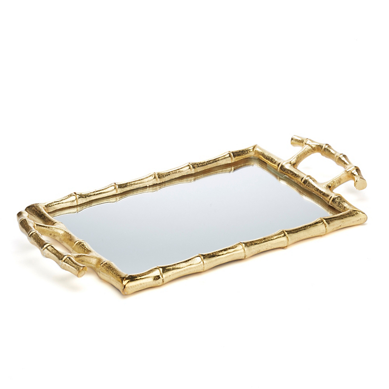 Bamboo Mirrored Tray