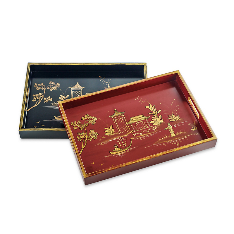 Chinoiserie Pagoda Trays