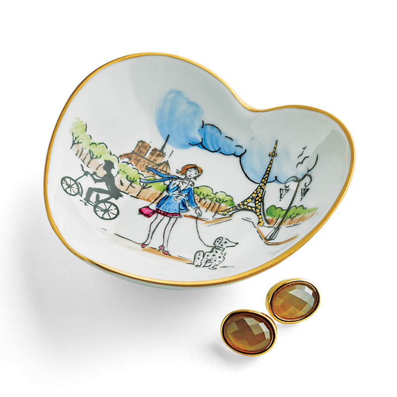 Paris Heart-Shaped Dish Limoges Box