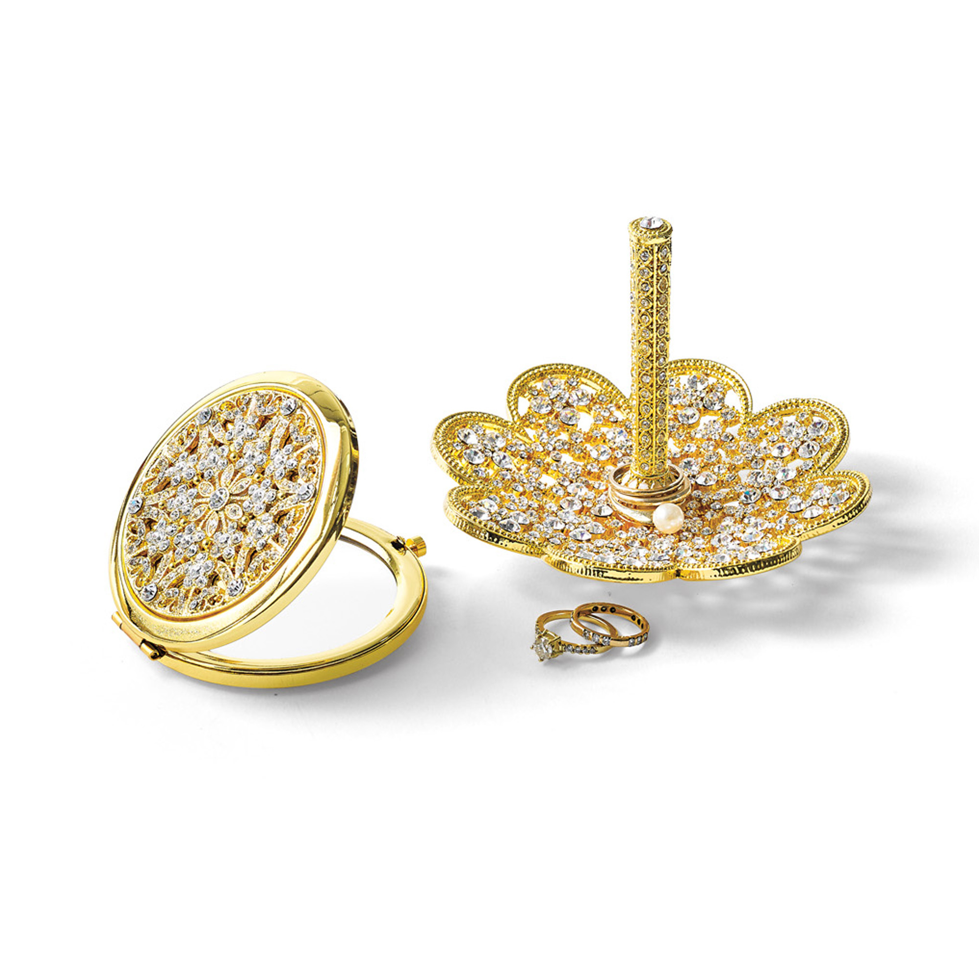 Swarovski Compact & Ring Holder