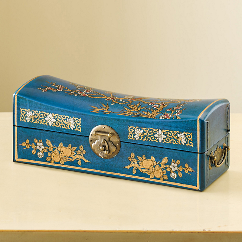 Turquoise Chinese Pillow Box