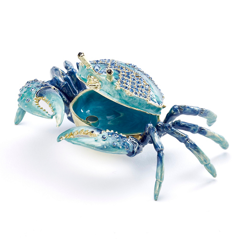 Sea Life Enameled Crab Box