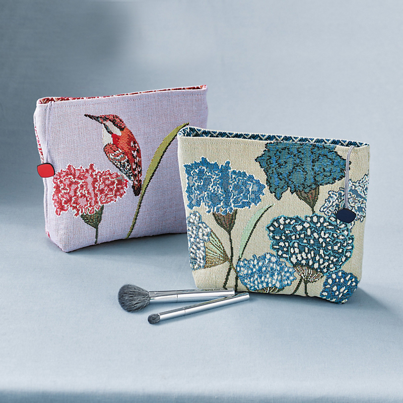 French Tapestry Floral Makeup Bags
